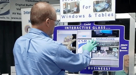 interactive touchscreen with gloves