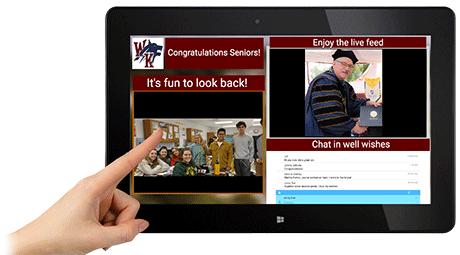 virtual graduation event cloud screen live streaming