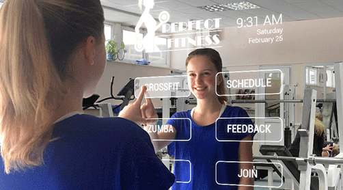 interactive fitness mirror